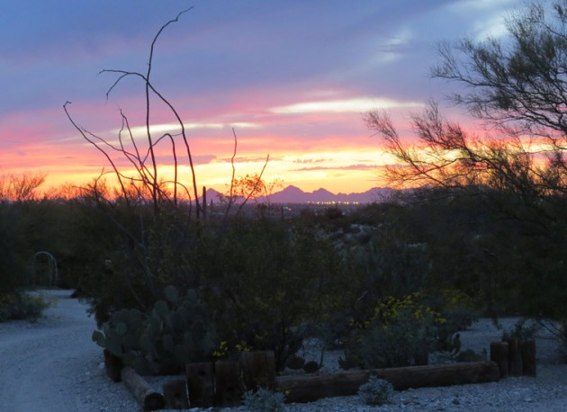 Sunset looking towards Tucson.