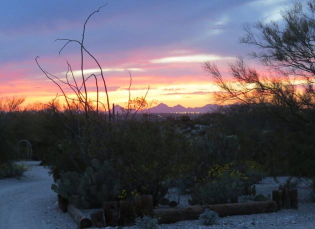 Sunset looking towards Tucson.